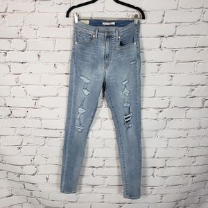 Levi's Distressed Mile High Super Skinny Jeans